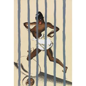 Le Tumulte Noir/Woman Dancer Behind Bars