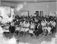 Tobacco workers meeting in their union hall, Charleston, S.C., circa 1940s or 1950s