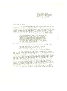 Letter from Robert C. Bennett to W. E. B. Du Bois