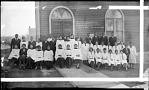 Senior and Junior Choirs of Tabernacle Baptist Church. Feb. 7, 1932 [acetate film photonegative, banquet camera format.]