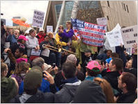 Veterans Against Trump, Trombone, etc., Atlanta March for Social Justice and Women, 2017-01-21