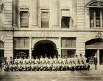 Elk's Lodge Members in front of theater