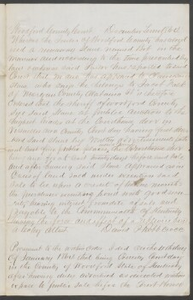 Court documents relating to the sale of runaway slave: Bob, belonging to Jacob Falk of Morgan County Ala., Woodford County, Ky.