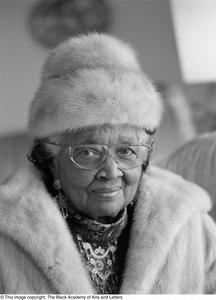 [Portrait of Travis Lewis in her winter wear] Dallas/Fort Worth Black Living Legends Dallas/Fort Worth Black Living Legends, 1993