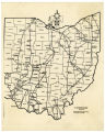 Underground Railroad Routes in Ohio map