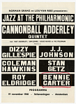 Jazz at the Philharmonic / ...19 November 19 1960 - Scheveningen - Amsterdam [Netherlands] [Black & white concert progrram.]