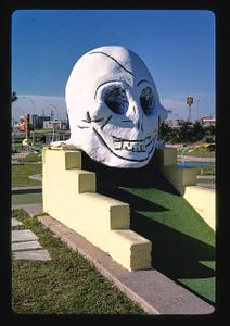 Skull, Stewart Beach mini golf, Galveston, Texas
