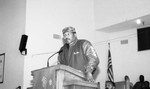 Jim Brown Speaking from a Pulpit, Los Angeles, 1991