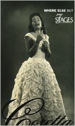 """Pearl Cleage's """"A Song for Coretta,"""" postcard announcing the performances at 7 Stages Theatre, Atlanta, Georgia, January 15 - February 17, 2008. (8 pages)"""