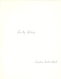 Student family histories: Neal, Josephine Jackson (Riley, Matthews, Cheney)