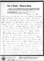 Affidavit of William P. Pierce: Dougherty County, 1868 Sept. 25