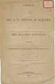 """Speech of Hon. F. W. Bowdon, of Alabama, ont he Slavery Question,"" an address delivered in the United States House of Representatives."