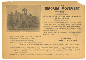 Invitation to Niagara Movement 1906 Meeting