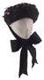 Black bonnet with pansies