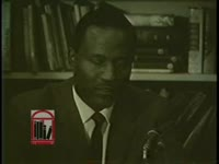 WSB-TV newsfilm clip of leaders of the Atlanta Summit Leadership Conference speaking to reporters at a press conference held in Atlanta Georgia, 1963 November 24