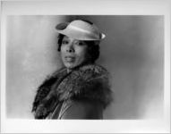 """Vanessa Shaw, publicity photo for her play """"Marian Anderson: A Credit to the Race,"""" at 7 Stages Theatre, Atlanta, Georgia, November 3 - 7, 1999"""