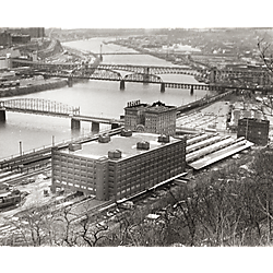 View of Monongahela River and Pittsburgh's South Side