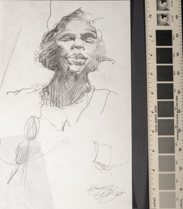 [Sketch of the Marian Anderson, one of three]