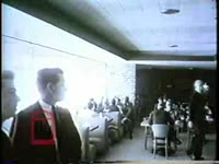 WSB-TV newsfilm clip of a news report about continued segregation at the Lester Maddox Cafeteria, with comments by segregationist Lester Maddox and African American civil rights lawyer Donald Hollowell, Atlanta, Georgia, 1965