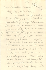 Letter from W. E. B. Du Bois to Vernealia Fareira