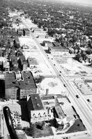 "Detroit; Streets; 12th; Aerials; Site of 1967 Rioting.--For ground shots of ""new"" ghetto area, See: Ghetto scenes"