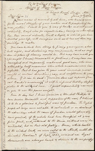 Letter from Francis William Newman, London, [England], to William Lloyd Garrison, June 7th 1864