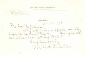 Letter from Herbert A. Miller to N.A.A.C.P