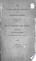 Anniversary oration : delivered in the Representative Hall, on the 9th of December, 1835 /