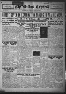 The Dallas Express (Dallas, Tex.), Vol. 31, No. 38, Ed. 1 Saturday, August 16, 1924 The Dallas Express