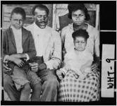 [Postcard of L. O. Cleveland and family on porch of their home, Cleveland, White County, Georgia, ca. 1921]