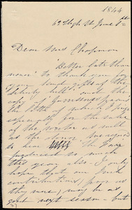 Letter from Annie Allen, 62 High St[reet], [Dublin, Ireland], to Maria Weston Chapman, June 1st, 1844