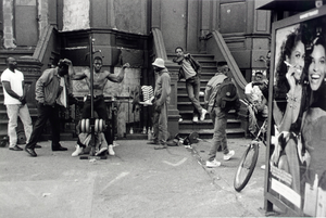 Untitled NYC (44th St. and 5th Ave.) (men on street/steps...), from the series Hats and Hat Nots