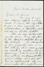 Letter to] My dear Mr. Garrison [manuscript