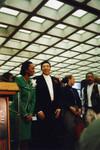 Yvonne Brathwaite Burke and Honoree Smokey Robinson during African American Living Legends Program