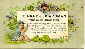 Tinker & Boardman, the cash shoe men