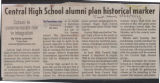 Clippings Concerning the Central High School Historical Marker