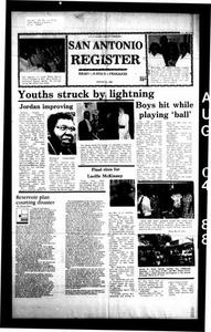 San Antonio Register (San Antonio, Tex.), Vol. 56, No. 17, Ed. 1 Thursday, August 4, 1988 San Antonio Register