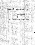 North Yarmouth 1771 Taxpayers and 1790 Heads of Families