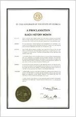 By the Governor of the State of Georgia, a proclamation, 2018 February 1 By the Governor of the State of Georgia, a proclamation: Black History Month