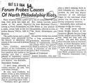 Forum probes causes of North Philadelphia riots