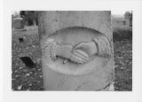 Alexandria Cemeteries Historic District: clasped hands tombstone