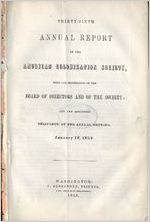 Thirty-sixth annual report of the American Colonization Society : with the proceedings of the Board of Directors and of the society, and the addresses delivered at the annual meeting, January 18, 1853