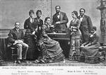 F. J. Loudin; Maggie L. Porter; Jennie Jackson; George E. Barrett; Ella Sheppard; Mabel R. Lewis; R. A. Hall; Patti Malone; [The Jubilee singers]