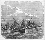 Fight in Chesapeake Bay; Crossing the bay in a batteau