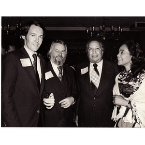 Unknown man, Walter Dunfey, Paul Parks, and Coretta Scott King