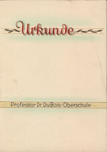 W. E. B. Du Bois certificate