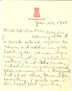 Letter from Hugh Macbeth to W. E. B. Du Bois