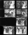 Set of negatives by Clinton Wright of wedding of Lovalle Johnson, June 19, 1965