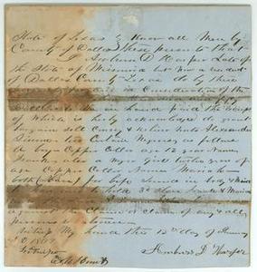 [Bill of sale] Robert Emmett Bledsoe Baylor Papers