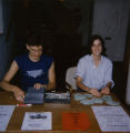 Two individuals working during a WBCR-sponsored jazz concert